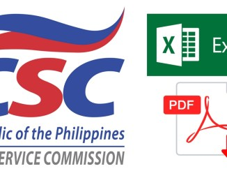 Excel PDF File of CSC Personal Data Sheet 2017