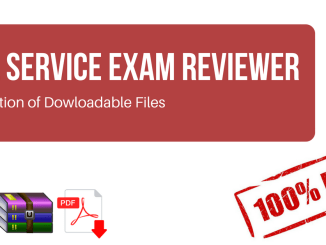Civil Service Exam Reviewer for Professional and Sub-Professional