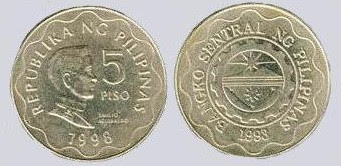 Old 5 Peso Coin