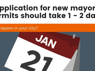 Application for new mayor's permits should take 1 - 2 days.
