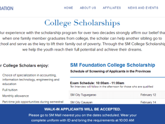 SM Foundation College Scholarship