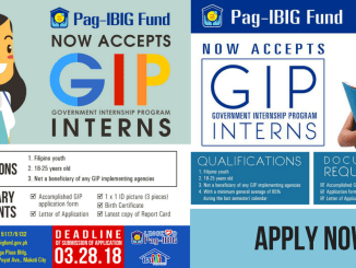 Pag-IBIG Government Internship Program 2018