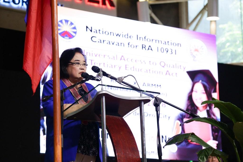 UniFAST Secretariat OIC Exec. Director Atty. Carmelita Yadao-Sison