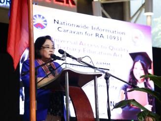 UniFAST Secretariat OIC Exec. Director Atty. Carmelita Yadao-Sison Tertiary Education Subsidy