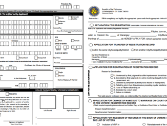 PDF COMELEC Application Forms
