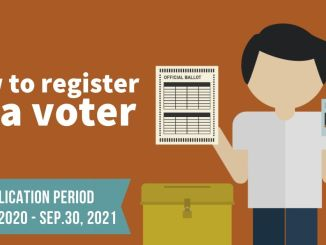 Voter Registration 2020 Schedule