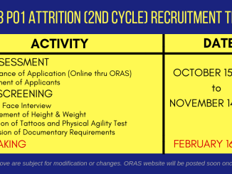 2018 PO1 Attrition Recruitment Program of PNP