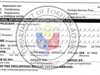 OVF No. 1 Form DFA