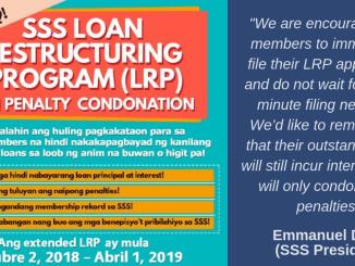 SSS Loan Restructuring Program 2019