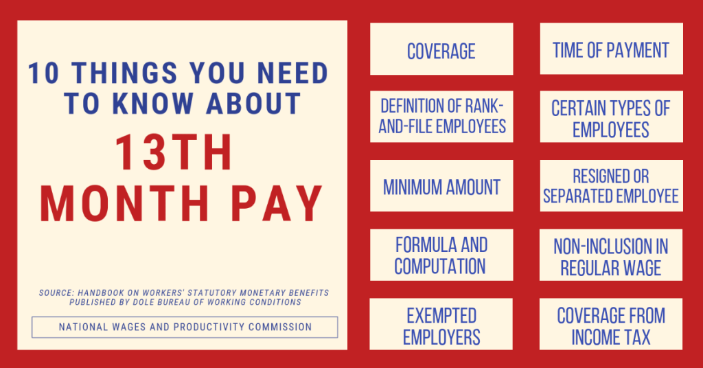 13th Month Pay Guidelines