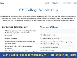 2019 SM College Scholarship
