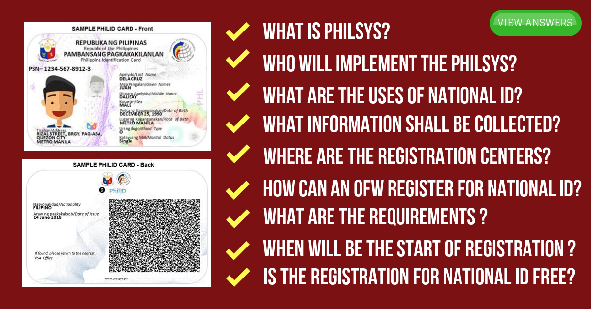 National ID Registration System | Frequently Asked Questions