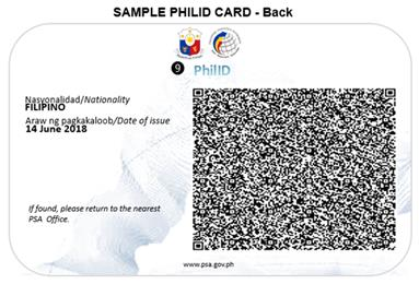 Sample National ID back