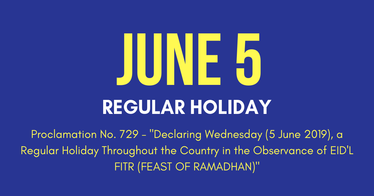 June 5 Holiday