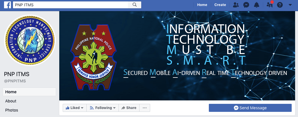 PNP ITMS Facebook Page
