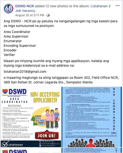 DSWD NCR Listahanan
