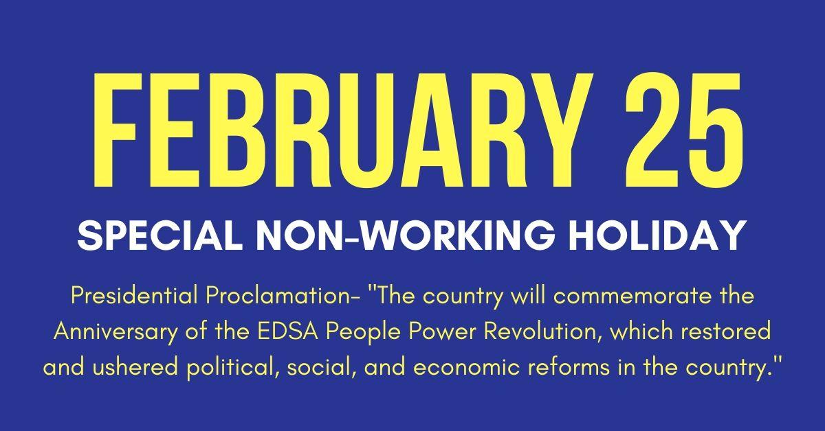 February 25 Holiday