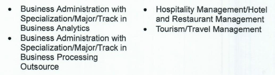 Other CHED Priority Courses