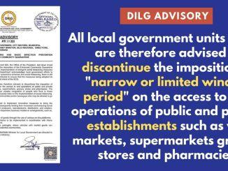 DILG Advisory on Social Distancing