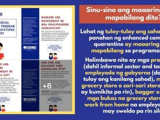 DSWD SAP FAQS