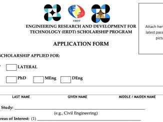 Application Form of ERDT Scholarship