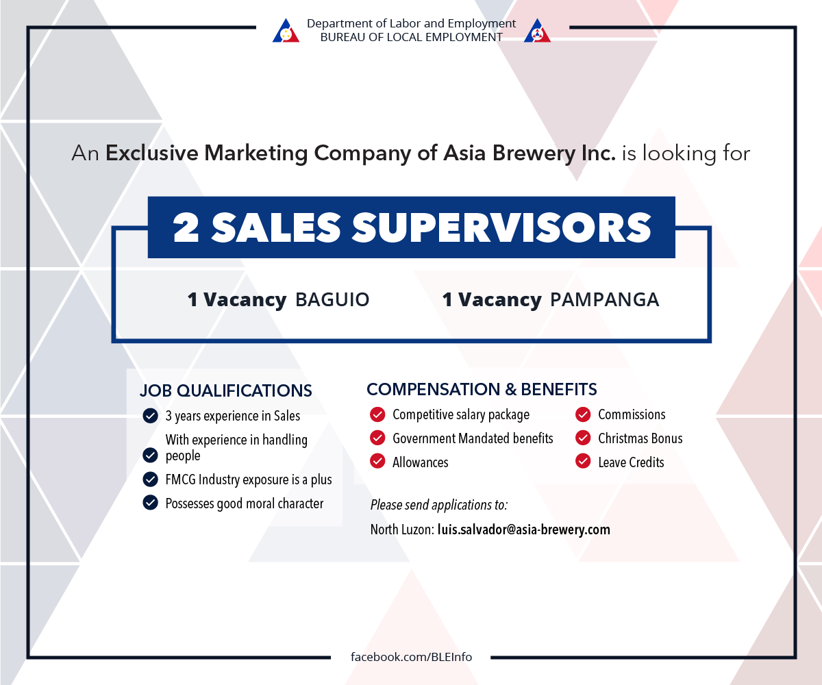 Sales Supervisors Asia Brewery