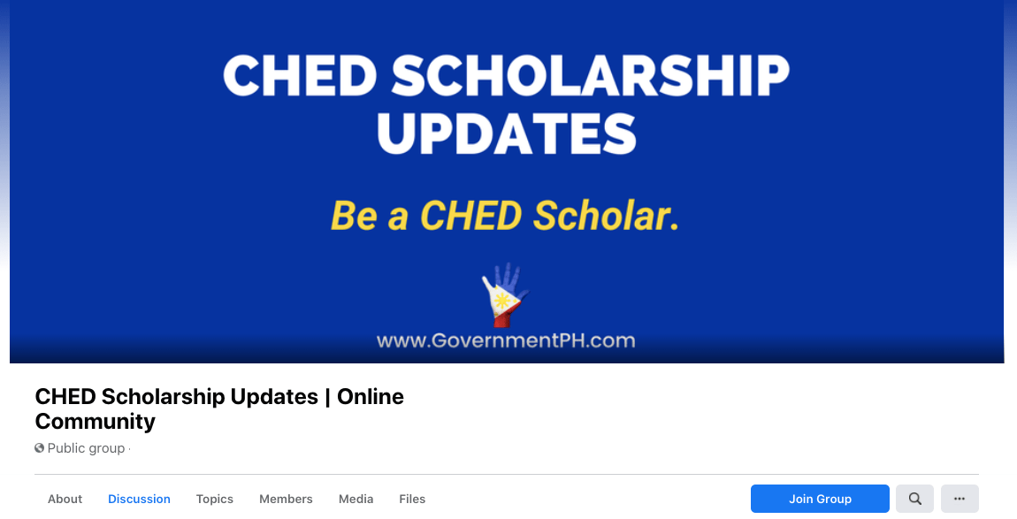 CHED Scholarship Updates FB Group
