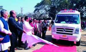 N. Biren Singh ambulance launch