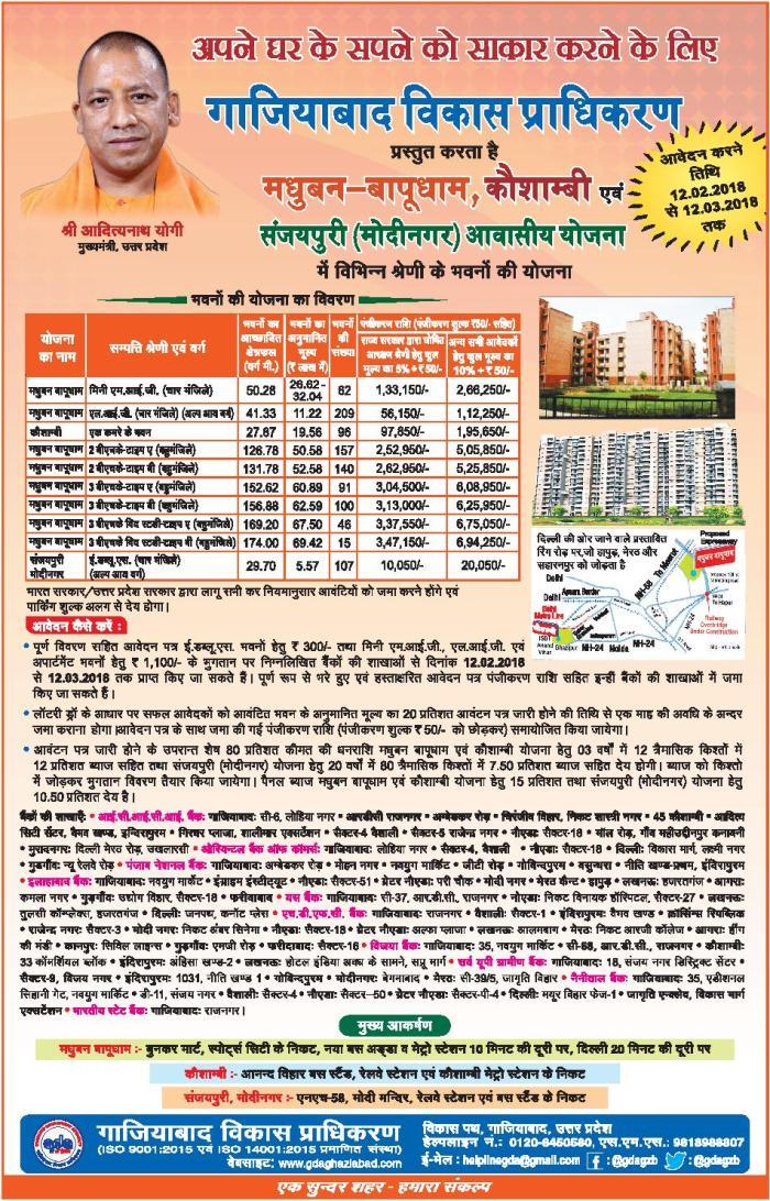 Ghaziabad Development Authority (GDA) residential flats scheme lucky draw