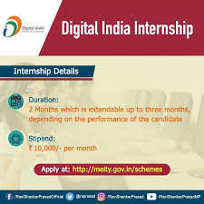 MeitY Digital India Internship Scheme for students