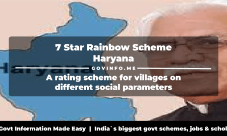 7 Star Rainbow Scheme Haryana a rating scheme for villages on different social parameters
