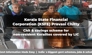 Kerala State Financial Corporation (KSFE) Pravasi Chitty chit scheme for non-resident Keralites