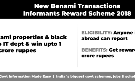 New Benami Transactions Informants Reward Scheme, 2018