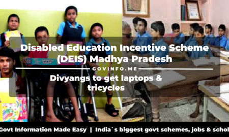 Disabled Education Incentive Scheme (DEIS) Madhya Pradesh Divyangs to get laptops & tricycles Registration, eligibility & how to apply