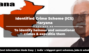 Identified Crime Scheme (ICS) Haryana to identify heinous and sensational crimes & expeditie them