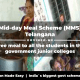 Mid-day Meal Scheme (MMS) Telangana free meal to all the students in the government junior colleges