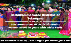 Bathukamma Saree Distribution Telangana 1.08 crore sarees to be distributed to women above 18 years with white cards