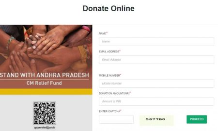 Andhra Pradesh Chief Minister's Relief Fund Online Donation Form