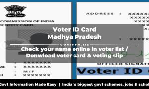 Madhya Pradesh Voter ID Card