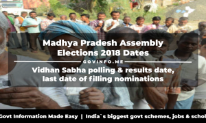 Madhya Pradesh assembly elections 2018 dates