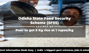 Odisha State Food Security Scheme (SFSS)