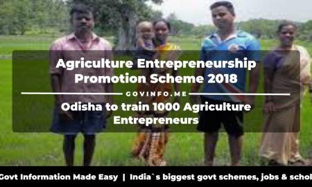 Agriculture Entrepreneurship Promotion Scheme 2018