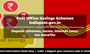 Post Office Savings Schemes