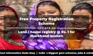 regd.jharkhand.gov.in - Free Property Registration Scheme Jharkhand