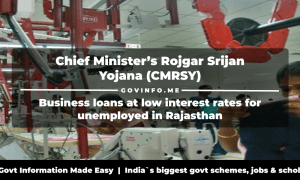Chief Minister's Rojgar Srijan Yojana (CMRSY) Business loans at low interest rates for unemployed in Rajasthan