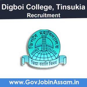 Digboi College Tinsukia Recruitment 2020