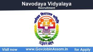 JNV Baksa Recruitment 2021