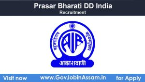 Prasar Bharati DD India Recruitment 2021