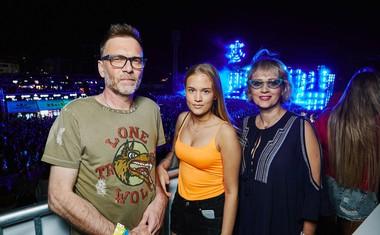 Pevka Vanna s soprogom Androm Vrdoljakom in hčerko Jano.