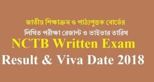 NCTB Written Exam Result Viva Date